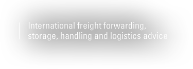 International freight forwarding, storage, handling and logistics advice